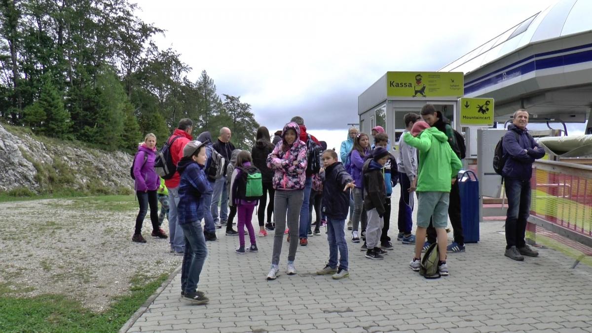 Gemeindealpe bei 10°, vor Mountaincart-Fahrt